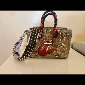 Handbags - One of a kind!!! Hand painted leather hand bag!!